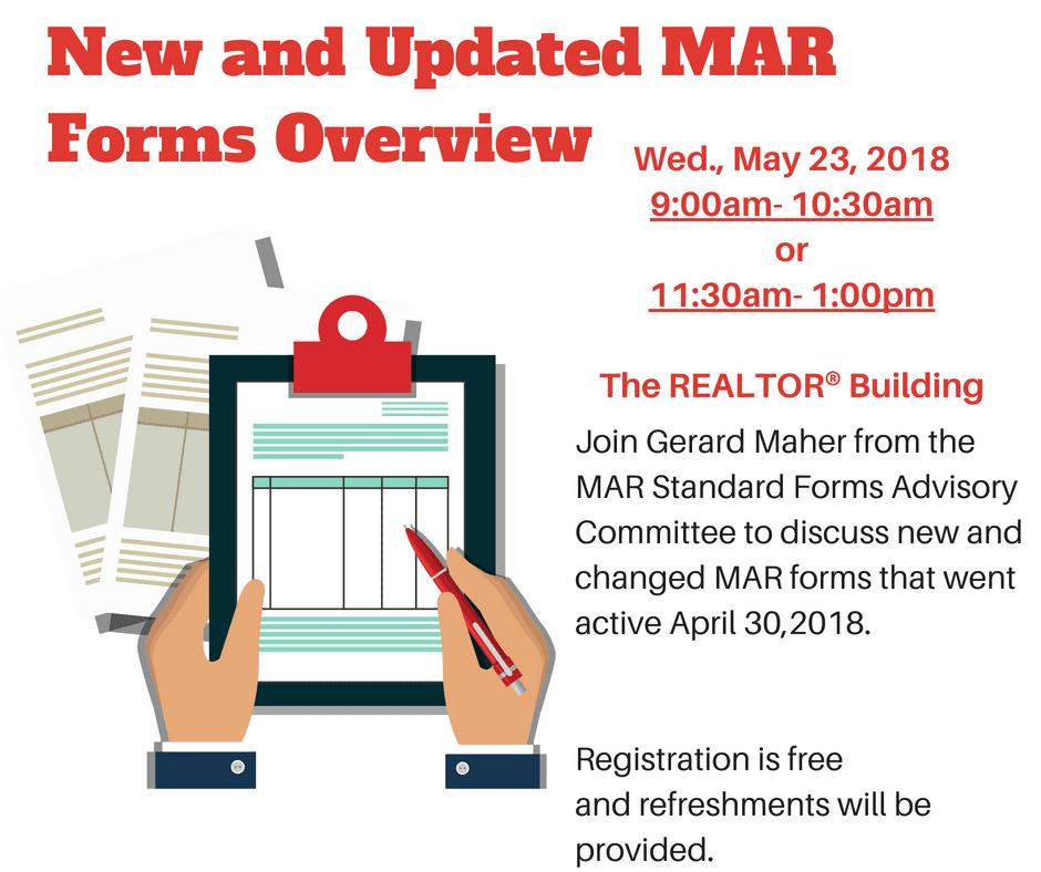 New MAR FormsLive April 30 1